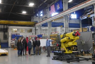 Tour of manufacturing facility for RPI students