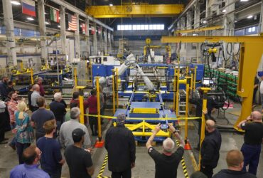 Machine cell factory testing at Simmons' manufacturing facility