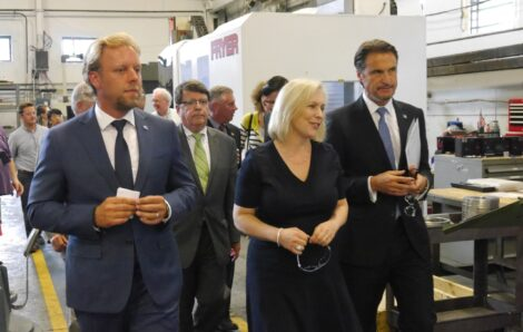 U.S. Senator Kirsten Gillibrand Visits Simmons for Tour and Press Conference