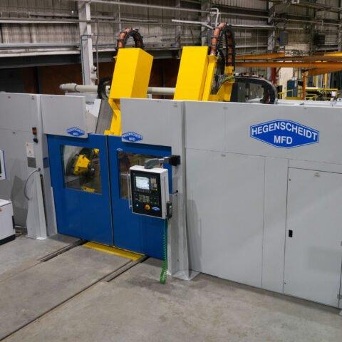 Hegenscheidt HP-165 CNC Torno de Rodeiros Portal