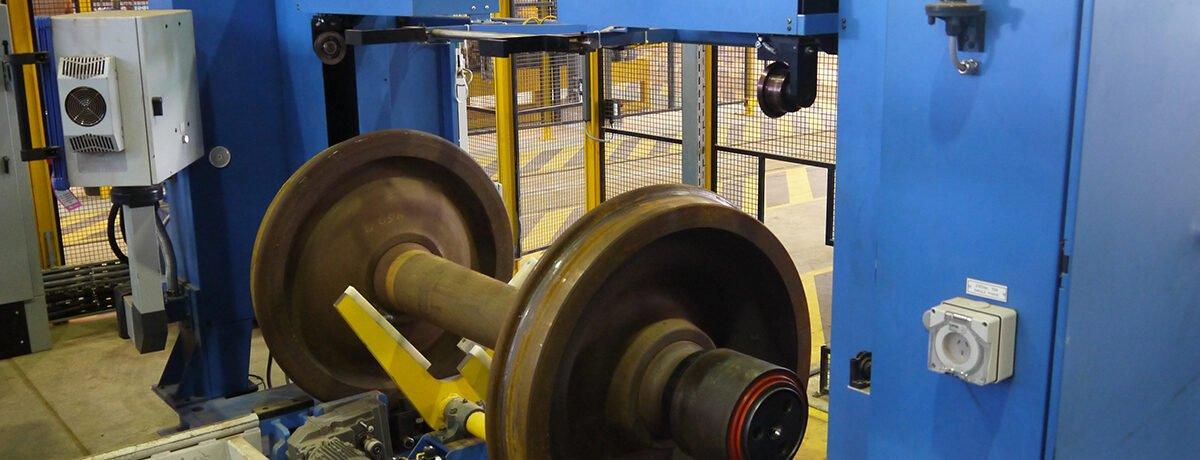 Railroad wheel set measuring system