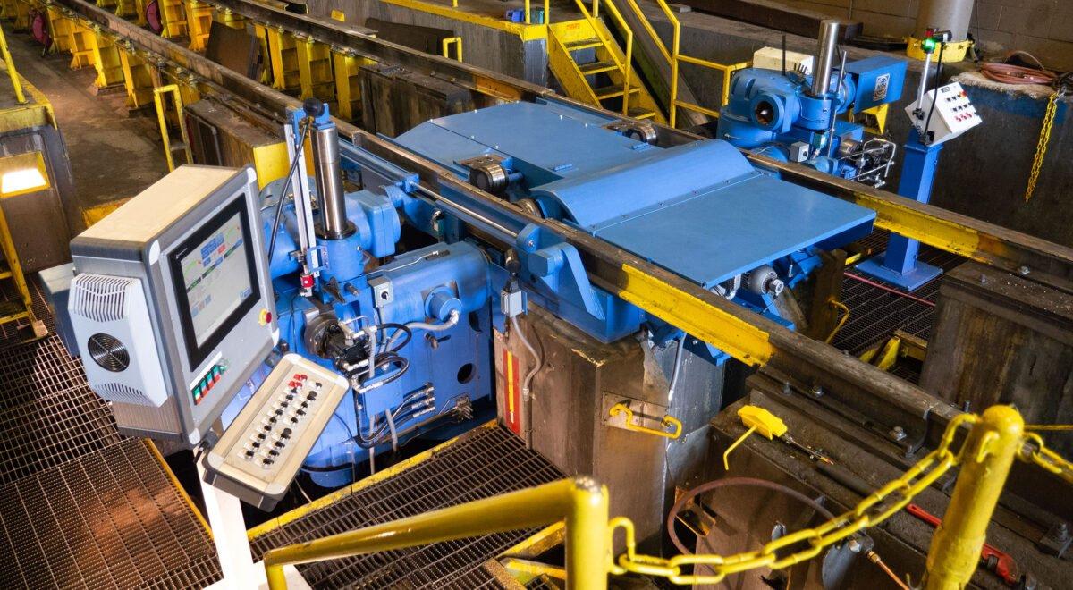 Stanray Underfloor Wheel Truing Machine in freight maintenance facility