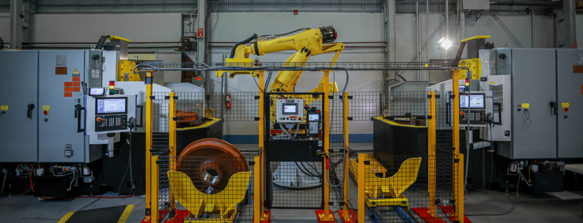 Automated Wheel Boring Machine Cell